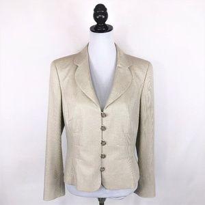 NWT Escada tan wool blend suit coat